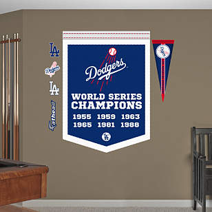 Los Angeles Dodgers World Series Champions Banner